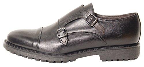 Antica Calzoleria Campana Schuhe   Mod. 9501   Monkstrap   Kalbsleder   schwarz   Gr. 43