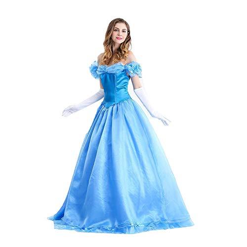 2REMISE Disfraz De Princesa De Cenicienta para Adultos De Halloween Disfraces De Discoteca Disfraces De Ópera Dramática