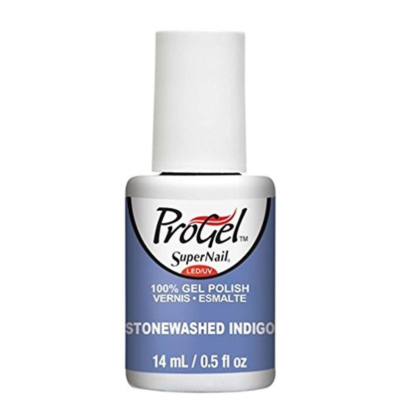 私の探検半島SuperNail ProGel Gel Polish - Stonewashed Indigo - 0.5oz / 14ml