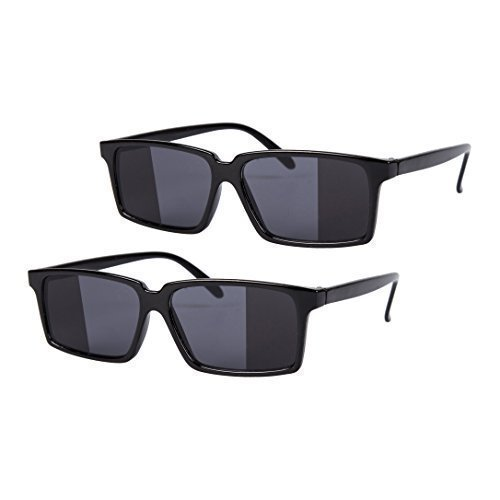 e8b8e98735b 2 x Black Mirror Rear View Spy Glasses