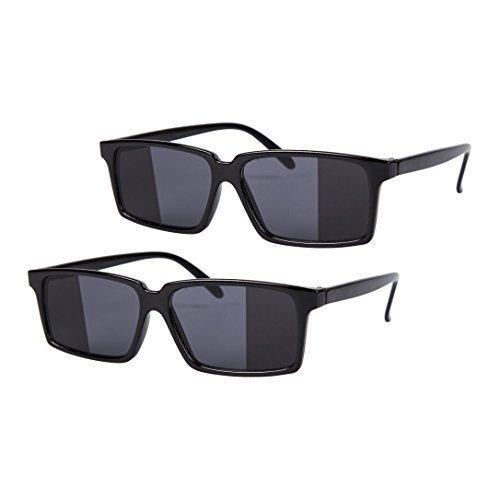 Robelli 2 x schwarz Spiegel Rückansicht SPY Brille