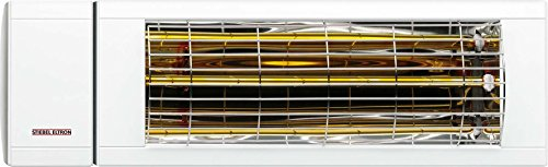 Stiebel Eltron Heizstrahler IA 2024 Outdoor, Infrarot, Direktheizung für den Außenbereich, Aluminium, Steckerfertig, 233889, Weiß