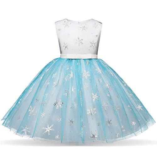 MEIbax Babykleidung MEIbax Kinder Mädchen Weihnachten Partyklied Schneeflocke Print Prinzessin Bling Tütü Kleid Baby Pettiskirt Abendkleider