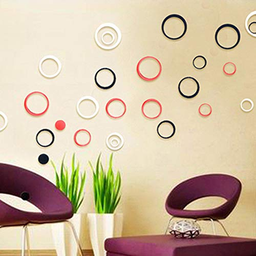 Harpily Pegatinas De Pared Polka Dots Vinilos Adhesivos Pared Lunares de Moda para Dormitorio Habitación Oficina (Verde)