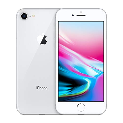 Apple iPhone 8, 64GB, Silver - For AT&T / T-Mobile (Renewed)