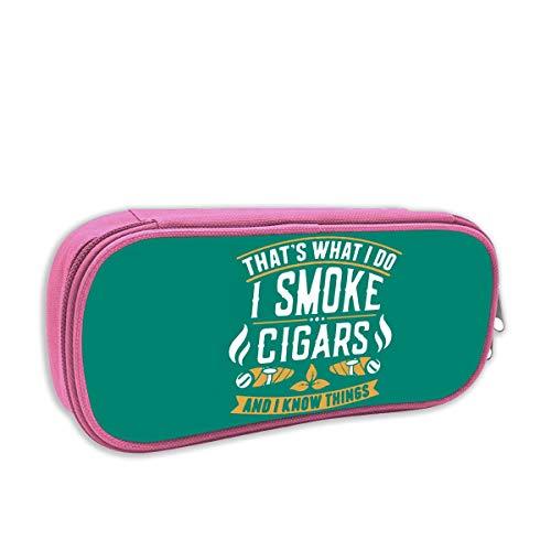 Dat is wat ik doe ik rook sigaren en ik weet dingen grote capaciteit potlood case bureau potlood Student briefpapier doos opbergtas Eén maat roze