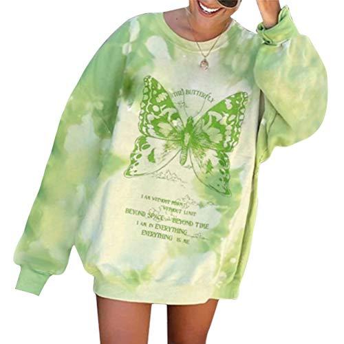 Tomwell Mujer Sudaderas Básico Punto Suéter de Moda O-Cuello Otoño Invierno Oversize...