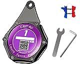 Ugozen Porte Vignette Assurance Moto, Etui Support De Vignette Crit air ou Assurance Etanche ,...
