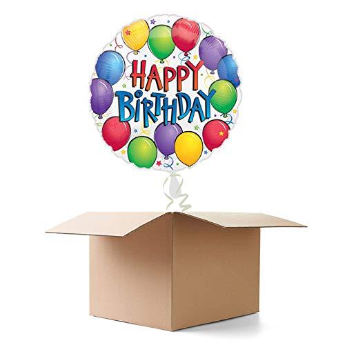CREATIV DISCOUNT Ballongrüße / Geschenkballons / Ballonversand, Happy Birthday Luftballons, 1 Ballon
