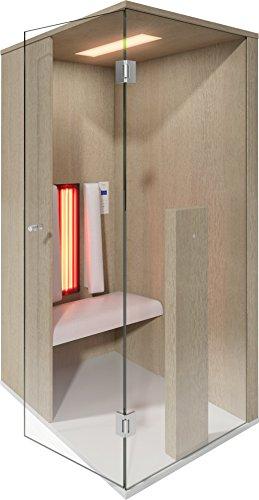 Infrarood cabine | Infrarood sauna Select Line 1 voor één persoon eiken van b-intense by Physiotherm - een aanbieding van welcon-wellness.de