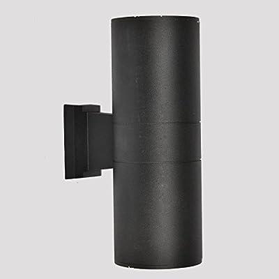 LED Moderna Lámpara de Pared Lámpara de pared para exterior resistente al agua jardín creativo arriba y abajo tubo de aluminio lámpara de pared lámpara de tubo de aluminio W17cmH29cm2 * 3W:
