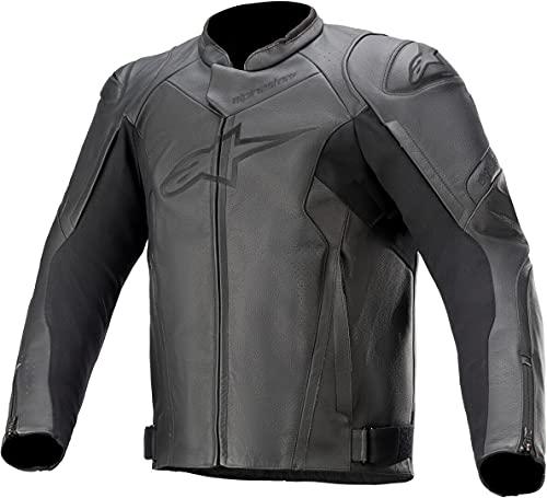 Alpinestars Faster V2 - Chaqueta de motorista con protectores de piel, color negro, talla 54, para hombre, deportistas, verano