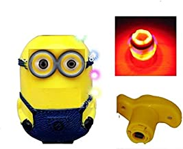 Charnalia Minions Flash Top Infrared Colorful Light and Music Spinning Tops (Yellow)