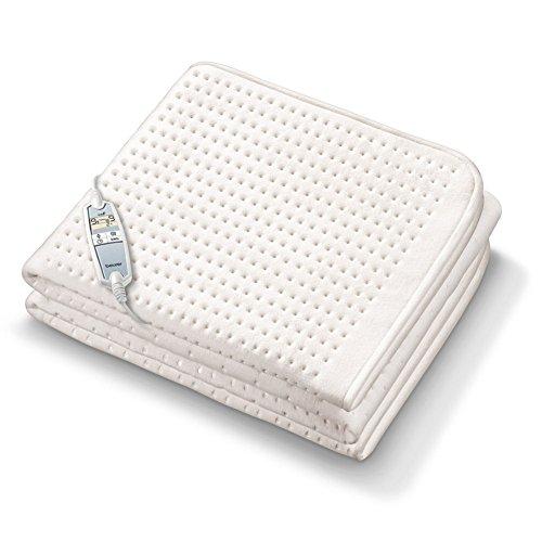 Beurer UB 100 Cosy Spann-Wärmeunterbett, extra weich, zwei separate Temperaturzonen, Sicherheitssystem