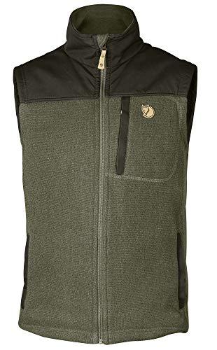 Fjallraven Herren Buck Fleece Vest M Sweatshirt, Laurel Green-Deep Forest, M