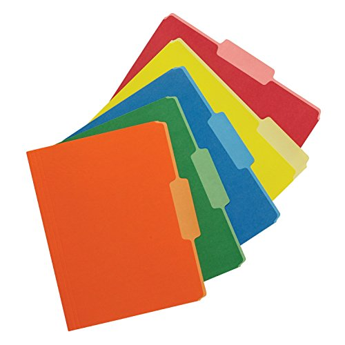 School Smart - 1475805 Two Tone Reversible Colored Folder, Assorted Colors, Pack of 100