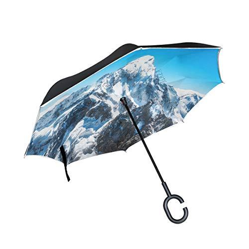 rodde Doble Capa Pico de montaña invertido Everest Umbrella Cars Reverse Windproof...