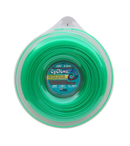 Cyclone .080-Inch-by-400-Foot Spool Commercial Grade 6-Blade 1-Pound Grass Trimmer Line, Green CY080D1-12