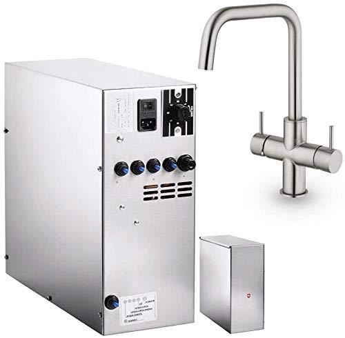 Untertisch-Trinkwassersystem SPRUDELUX INOX ohne Filtereinheit inklusive 5-Wege-Armatur CUCINA ESTETICA. Profi-Wassersprudler für den Privathaushalt. Spritziges Sprudelwasser