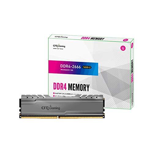 CFD販売 デスクトップPC用ゲーミングメモリ CX1シリーズ Intel XMP2.0 サポート PC4-21300(DDR4-2666) 16GB×2枚 無期限保証 W4U2666CX1-16G