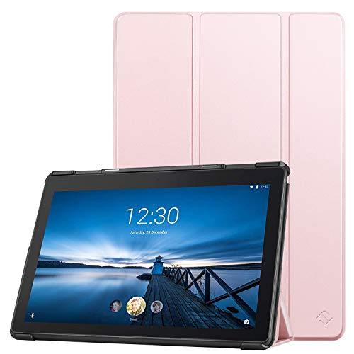 FINTIE Case for Lenovo Tab E10 - Lightweight Slim Shell Stand Cover for Lenovo TAB E10 TB-X104F 10.1-Inch Android Tablet 2018 Release, Rose Gold