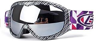 cjcaijun - Gafas Gafas esféricas de esquí de doble capa antivaho for niños Gafas de sol