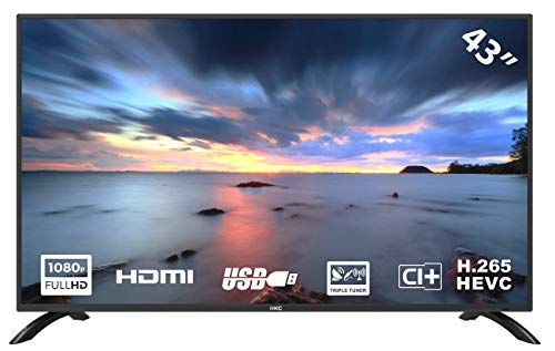 HKC 43F3 TV LED da 109 cm (43 pollici) (Full HD, Triple Tuner (DVB-C / -T2 / -S2), CI +, HDMI, lettore multimediale tramite USB 2.0)
