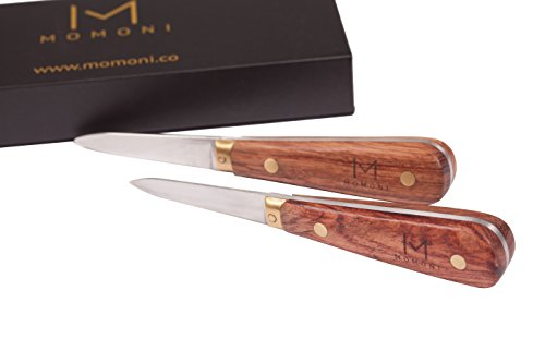 MOMONI Premium Oyster Knife Set (2 Knives) - Ultimate Oyster Shucker