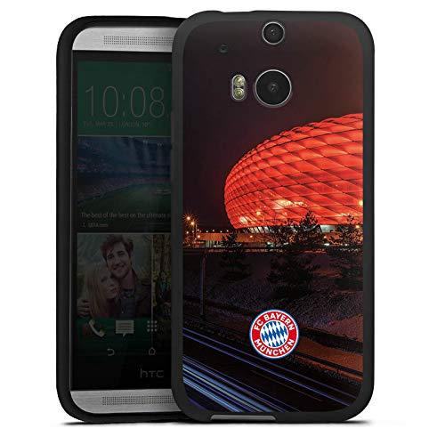 DeinDesign Silikon Hülle kompatibel mit HTC One M8 Hülle schwarz Handyhülle FCB Stadion FC Bayern München
