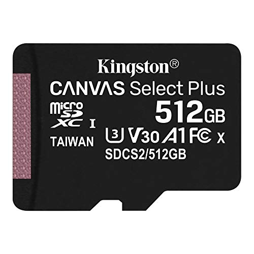 キングストン microSD 512GB 最大100MB/s UHS-I V30 A1 Nintendo Switch動作確認済 Canvas Select Plus SDCS2/512GB 永久保証
