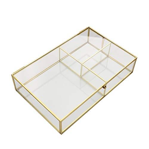 N/A. Caja de almacenamiento para joyas de cristal transparente para el hogar, para el día de San Valentín, Navidad