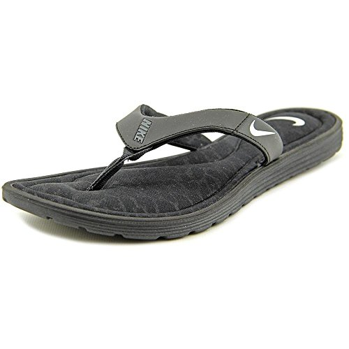Nike Womens Solarsoft Comfort Thong Sandal Black/Anthracite/White 6