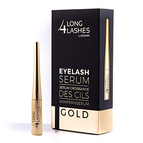 Long4Lashes GOLD 4 ml - Neues Exclusives Wimpernserum, hohe Kapazität - Serum der Superlative...