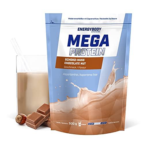 """Energybody Mega Protein """"Schoko-Nuss"""" 500 g / Mehrkomponenten Protein mit Casein Whey Mix als Eiweißshake / Eiweisspulver ohne Aspartam/ Protein-Pulver / 20 Portionen"""
