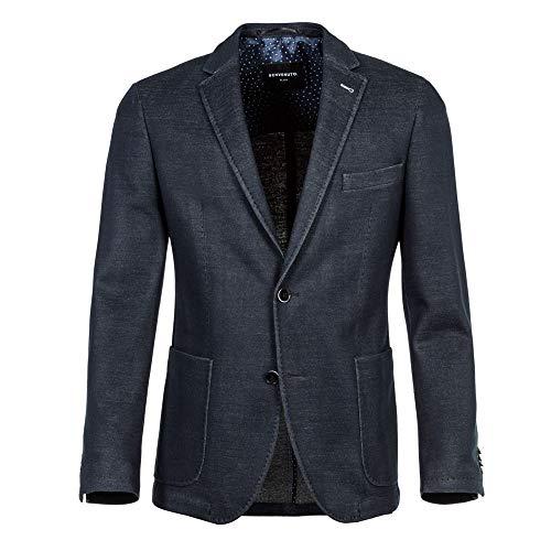 Benvenuto Black - Modern Fit - Herren Jersey Sakko in modischer Optik, Riva (20790, Modell: 62568)