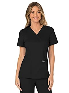 CHEROKEE Workwear Revolution WW610 Women's Mock Wrap Top, Black, 2X-Small (B072N4226H) | Amazon price tracker / tracking, Amazon price history charts, Amazon price watches, Amazon price drop alerts