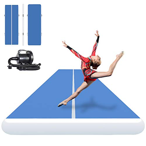 ibigbean Inflatable Gymnastics Tumbling Air Tracker Equipment Mats - for Cheerleading, Gymnastics...