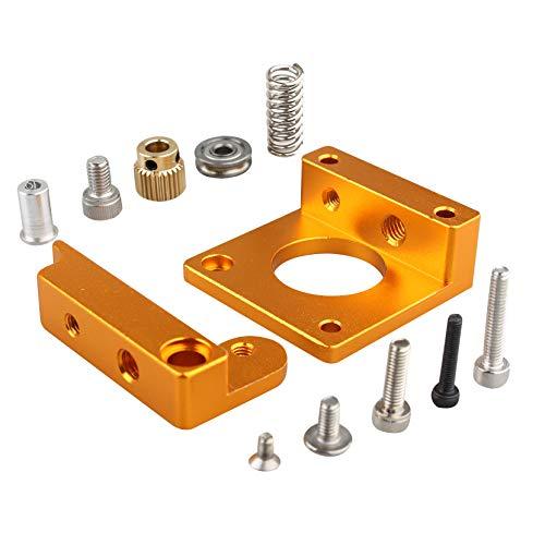 Jopto MK8 Bowden Extruder Accessories, Right Hand 3D Printer Parts MK8 Extruder Aluminum Frame MK8 Extruder Drive Feed DIY Kit for Reprap Delta Prusa i3 3D Printer