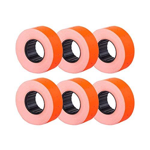 (6 rollos) rojo 21 x 12 mm Etiqueta adhesiva de papel de colores Precio Pistola Etiquetas de marcador de precios MX-5500
