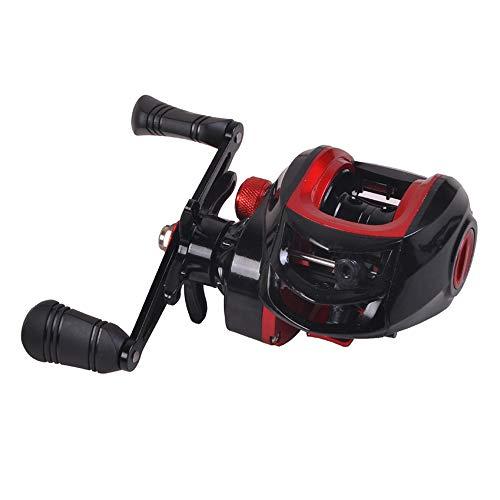 Xiaomu Carretel de pesca de metal 181Bb com proporção de velocidade de 7.2:1 roda de gotejamento de liga de alumínio para mão esquerda ou direita carretel de pesca carretilha de pesca para pesca no lago marítimo