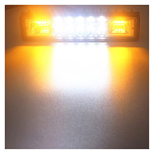 YANGLI WanLiTong 48W Strobe Flash Work Light LED LED Barra de luz Dual Color Fit para Jeep SUV ATV Niva Off Road 4x4 Camión Trailer Trailer Lámpara de Trabajo 12V 24V (Color : Amber and White)