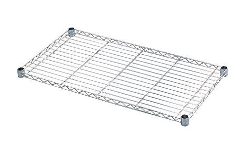 アイリスオーヤマ メタルラック 棚板 ポール径25mm 幅91×奥行46cm 耐荷重75kg メタルシェルフ クロムメッキ...
