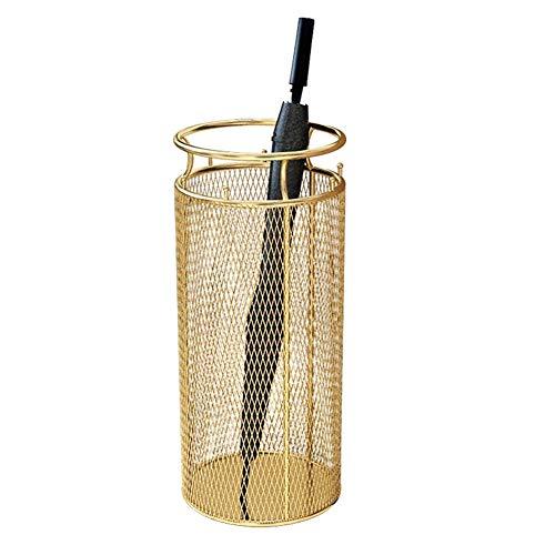 Paragüero BWZF Metal Dorado - Bastones domésticos for el vestíbulo del Hotel/Bastones, Bastidor de Almacenamiento de pie, Ø30cm × H70cm