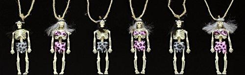 Skelett Neandertaler Girlande 6 Figuren 3D 60X15 Halloween Grusel Deko