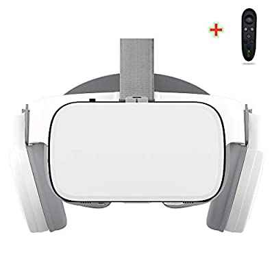 VR Headset Compatible with iPhone and Android Phones,3D Glasses Virtual Reality With Wireless Bluetooth Earphone ,VR goggles, Android IOS Remote Reality VR , VR Helmet Stereo for Android 4.7-6.2