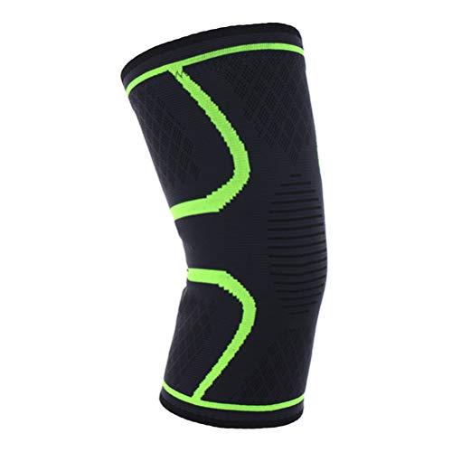 LIOOBO Manchons de compression pour genou, 1 pièce, pour la course, le jogging, le sport, le soulagement des douleurs articulaires, la récupération de l'arthrite et des blessures (Vert clair L)
