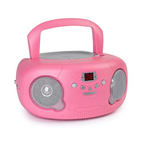 Auna Pink Bonbon CD Minicadena - Reproductor de CD