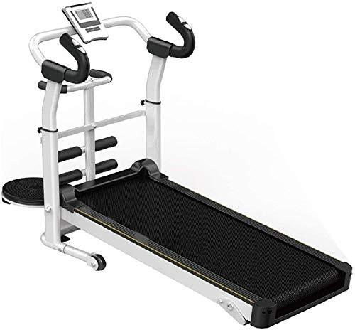 Hardloopmachines Mechanische loopband Opvouwbare ruimtebesparing Fitness Running Machine Walking Running Fitness voor fitness Gym (kleur: wit Afmeting: 120x115x52cm)(Upgrade)