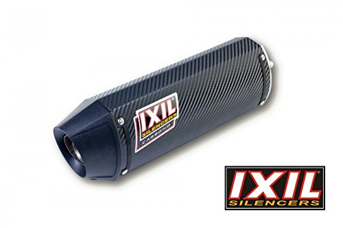 IXIL 073-876 Silencer HEXOVAL XTREM carbon GSX 1000 R 07-08 2-1 singleexit right side racing black endcap No homologation. Not for use in public road