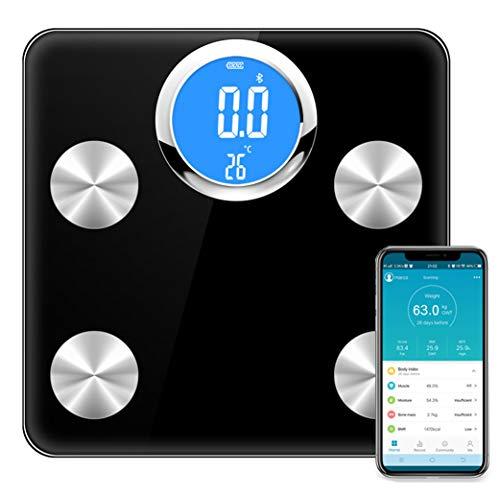 ZHESHEN Körperfettwaage Personenwaage Mit Bluetooth Und APP Digitale Körperwaage Intelligente Gewichtswaage Digitalwaage Für Ios Und Android